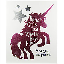 Buy The Bright Side Girls Just Wanna Have Fun Greeting Card Online at johnlewis.com