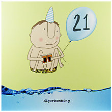 Buy Rosie Made A Thing 21st Boy Birthday Card Online at johnlewis.com