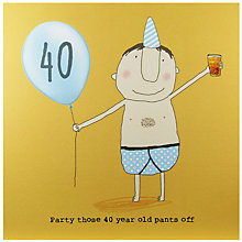 Buy Rosie Made A Thing 40th Boy Birthday Card Online at johnlewis.com