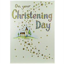 Buy Paper Rose Christening Day Greeting Card Online at johnlewis.com