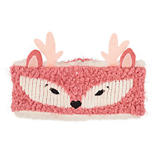 Buy Fat Face Children's Deer Headband, Pink Online at johnlewis.com