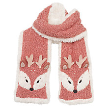 Buy Fat Face Children's Deer Scarf. Pink Online at johnlewis.com