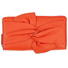 Buy Kin by John Lewis Effie Bow Leather Zip Around Purse Online at johnlewis.com