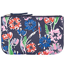 Buy John Lewis Tulip Print Leather Coin Purse, Blue Online at johnlewis.com