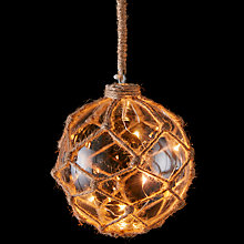Buy Hanging Jute Net LED Ball Online at johnlewis.com