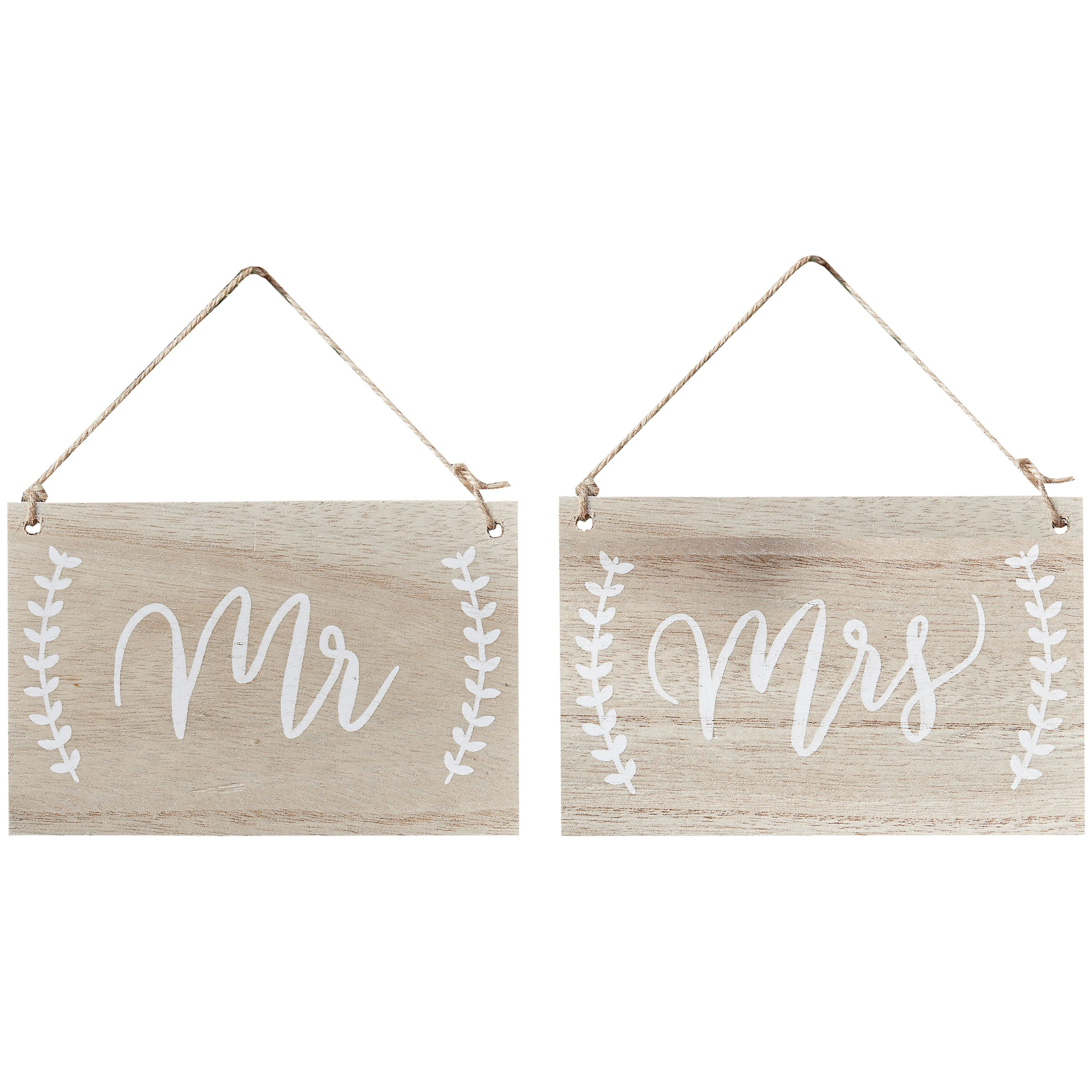 Ginger Ray Ginger Ray Mr And Mrs Wooden Chair Hanging Signs