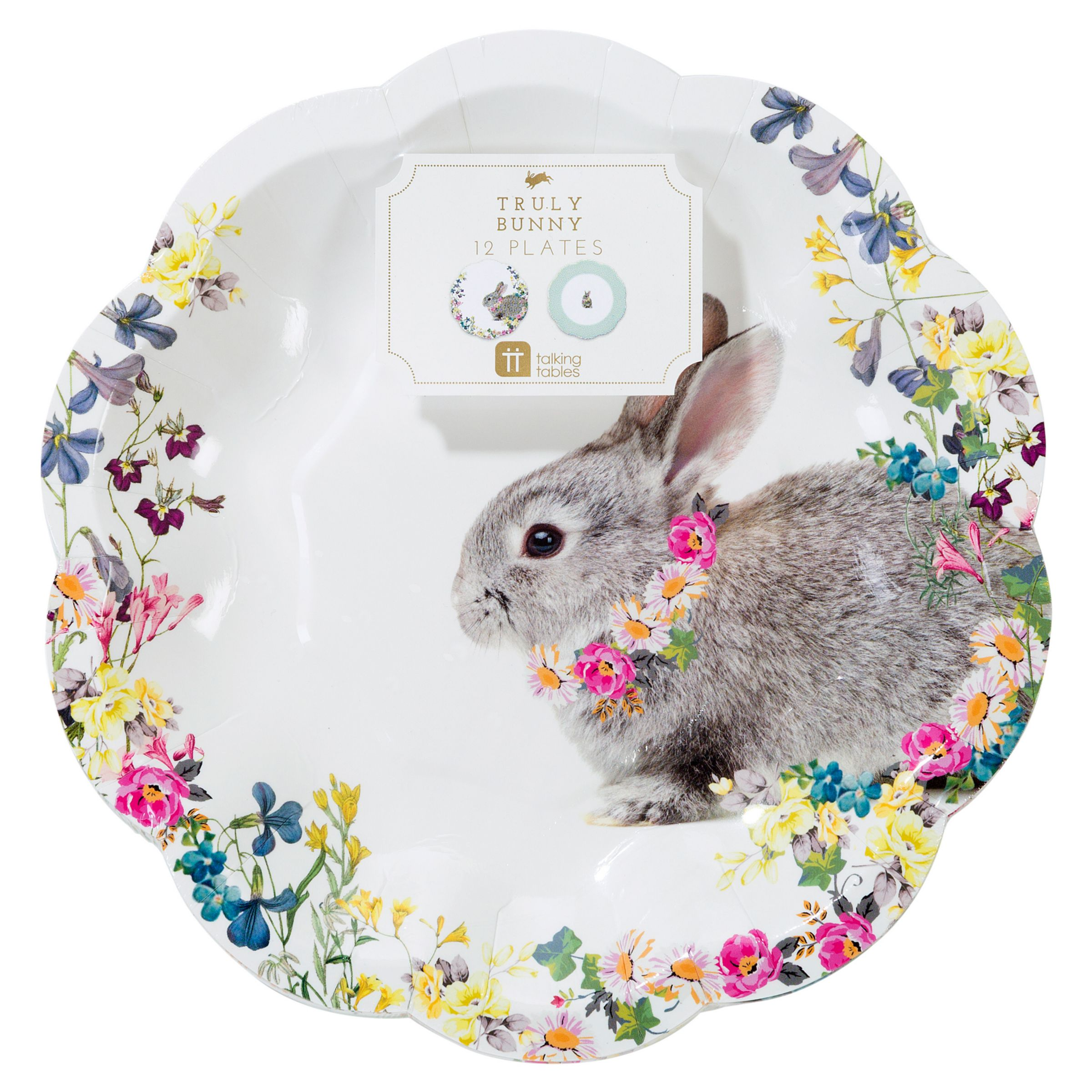 Talking Tables Talking Tables Truly Bunny Plates, Pack of 12