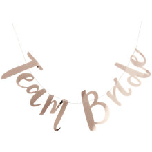 Buy Ginger Ray Hen Party Team Bride Gold Banner Online at johnlewis.com