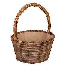 Buy John Lewis Wooden Natural Basket Online at johnlewis.com