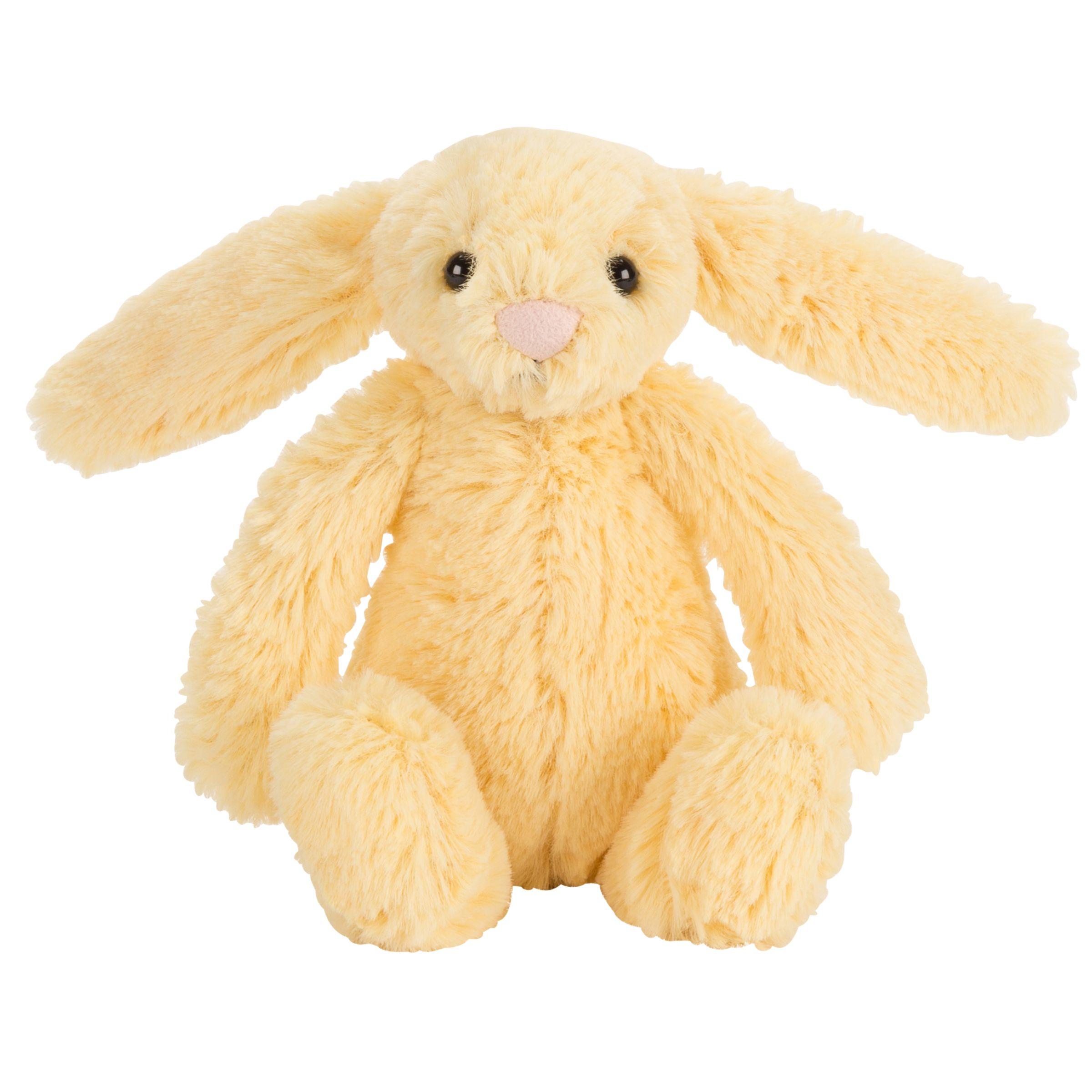 Jellycat Jellycat Bashful Baby Bunny Soft Toy, Lemon