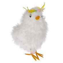 Buy John Lewis Small Festival Chick Easter Decoration, White Online at johnlewis.com