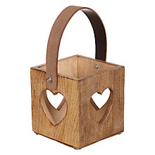 Buy John Lewis Mango Wood Heart Lantern Online at johnlewis.com