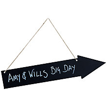 Buy Ginger Ray Wooden Chalk Board Arrow Sign Online at johnlewis.com