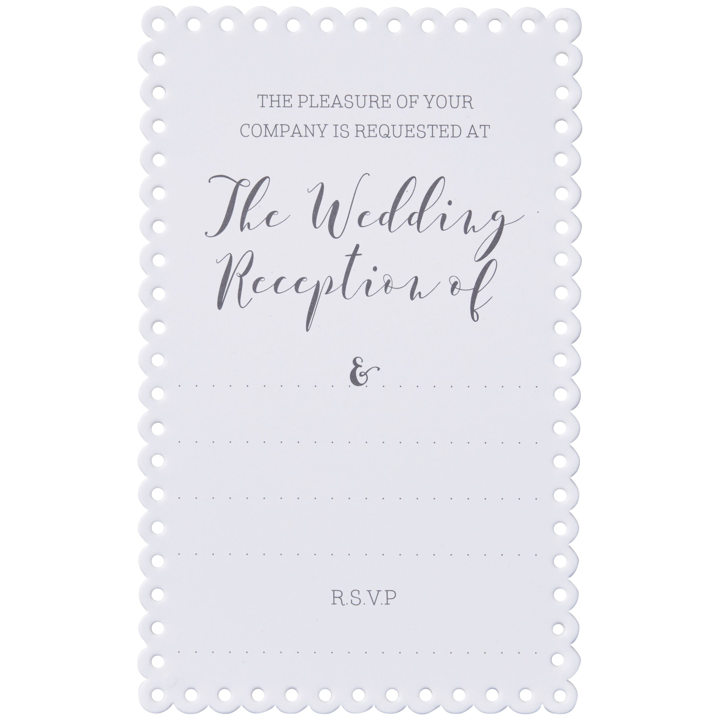 Ginger Ray Ginger Ray Scalloped Evening Invitations, Pack of 10