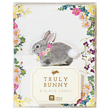 Buy Talking Tables Truly Bunny Placecards, Pack of 8 Online at johnlewis.com