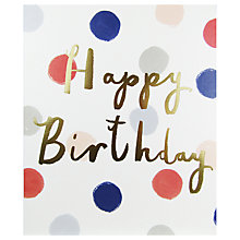 Buy John Lewis Happy Birthday Greeting Card Online at johnlewis.com