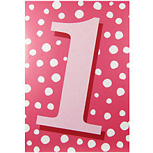 Buy Woodmansterne Pink Dotty Greeting Card Online at johnlewis.com