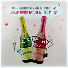 Buy Paperlink Prosecco Greeting Card Online at johnlewis.com
