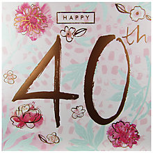 Buy Cardmix Happy 40th Birthday Card Online at johnlewis.com
