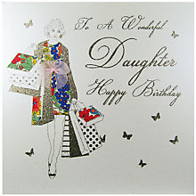 Buy Five Dollar Shake To A Wonderful Daughter Birthday Card Online at johnlewis.com