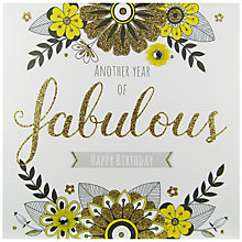 Buy Rachel Ellen Secret Garden Fabulous Birthday Card Online at johnlewis.com
