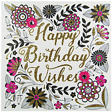 Buy Rachel Ellen Secret Garden Birthday Wishes Card Online at johnlewis.com