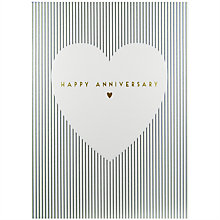 Buy Art File White Heart With Gold Greeting Card Online at johnlewis.com