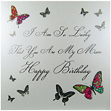 Buy Five Dollar Shake I Am So Lucky Mum Birthday Card Online at johnlewis.com