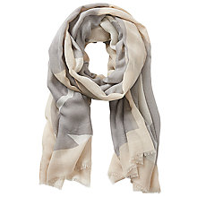 Buy Betty & Co. Abstract Print Scarf, Brass/Silver Online at johnlewis.com