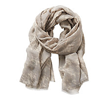 Buy Betty & Co. Animal Print Scarf, Brass/Silver Online at johnlewis.com