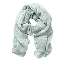 Buy Betty & Co. Long Pleated Scarf, Cloud Green Online at johnlewis.com