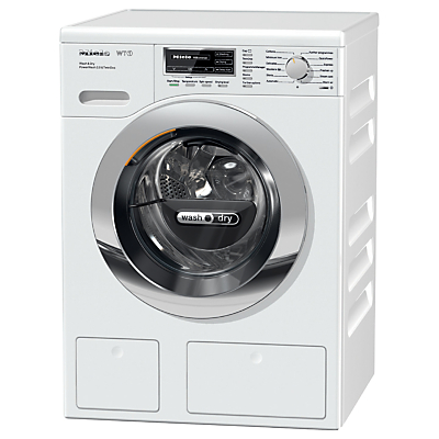 Miele WTH120WPM Washer Dryer, 7kg Wash/4kg Dry Load, A Energy Rating, 1600rpm Spin, White