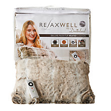 Buy Dreamland Relaxwell Deluxe Faux Fur Heated Cushion, Alaskan Grey Online at johnlewis.com