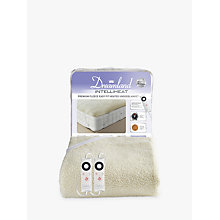 Buy Dreamland 16297 Heated Fleece Dual Control Fitted Double Underblanket, White Online at johnlewis.com