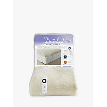 Buy Dreamland Heated Fleece Fitted Electric Underblanket Online at johnlewis.com
