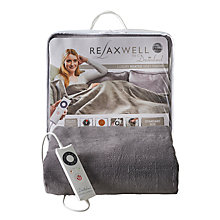 Buy Dreamland 16334 Relaxwell Heated Throw Luxury Electric Blanket, Grey Online at johnlewis.com