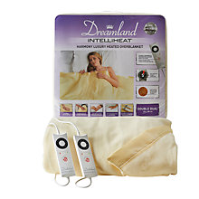 Buy Dreamland Heated Fleece Dual Control Fitted Electric Overblanket Online at johnlewis.com