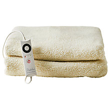 Buy Dreamland Heated Fleece Fitted Mattress Protector Online at johnlewis.com