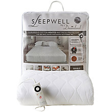 Buy Dreamland Sleepwell Heated Mattress Protector, Double Online at johnlewis.com