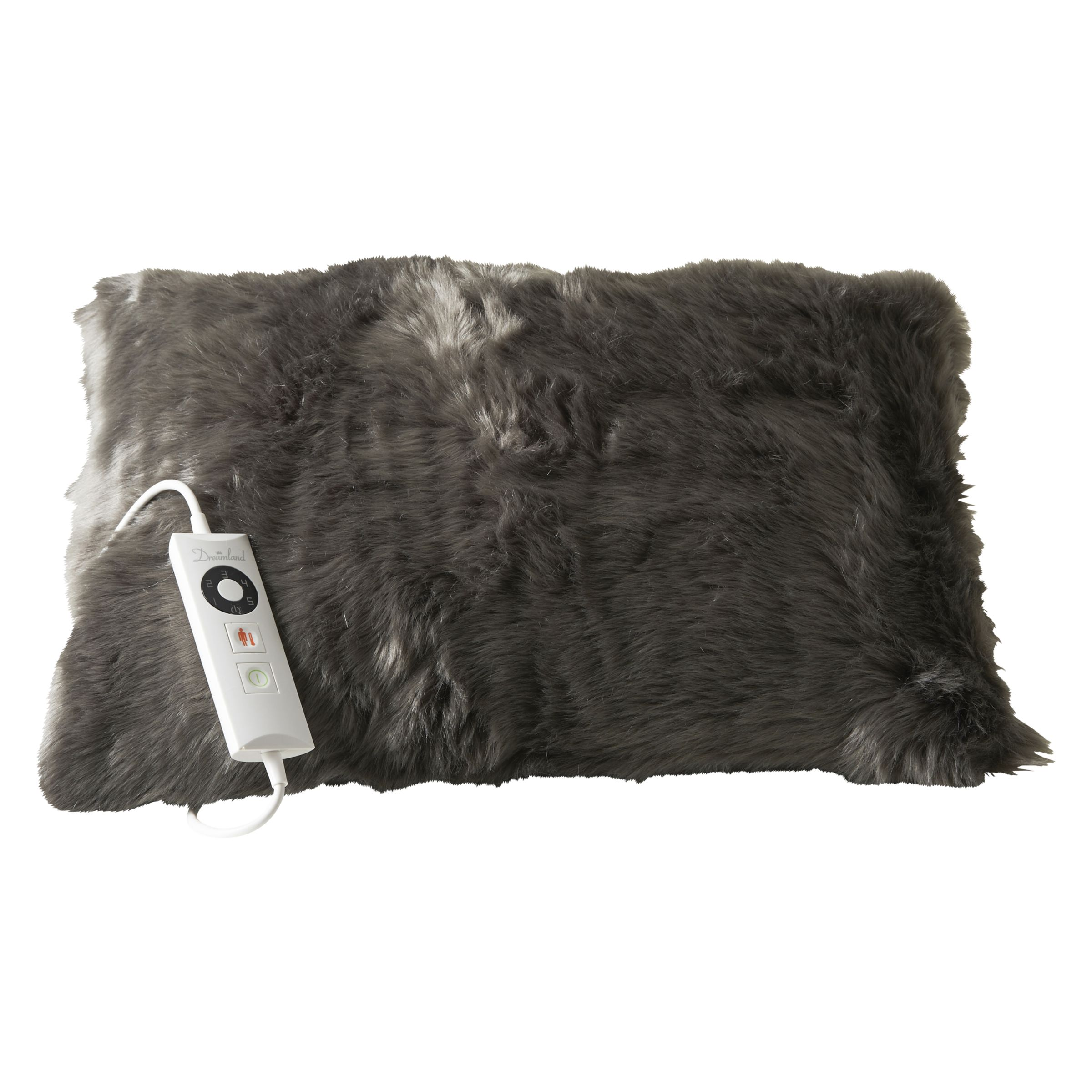 Dreamland Relaxwell Deluxe Faux Fur Heated Cushion