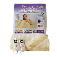 Buy Dreamland 16323 Heated Fleece Dual Control Kingsize Electric Overblanket, Yellow Online at johnlewis.com