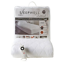 Buy Dreamland 16311 Sleepwell Heated Mattress Cover, Single Online at johnlewis.com