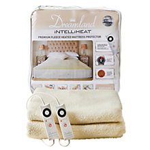 Buy Dreamland Heated Fleece Fitted Dual Control Mattress Protector Online at johnlewis.com