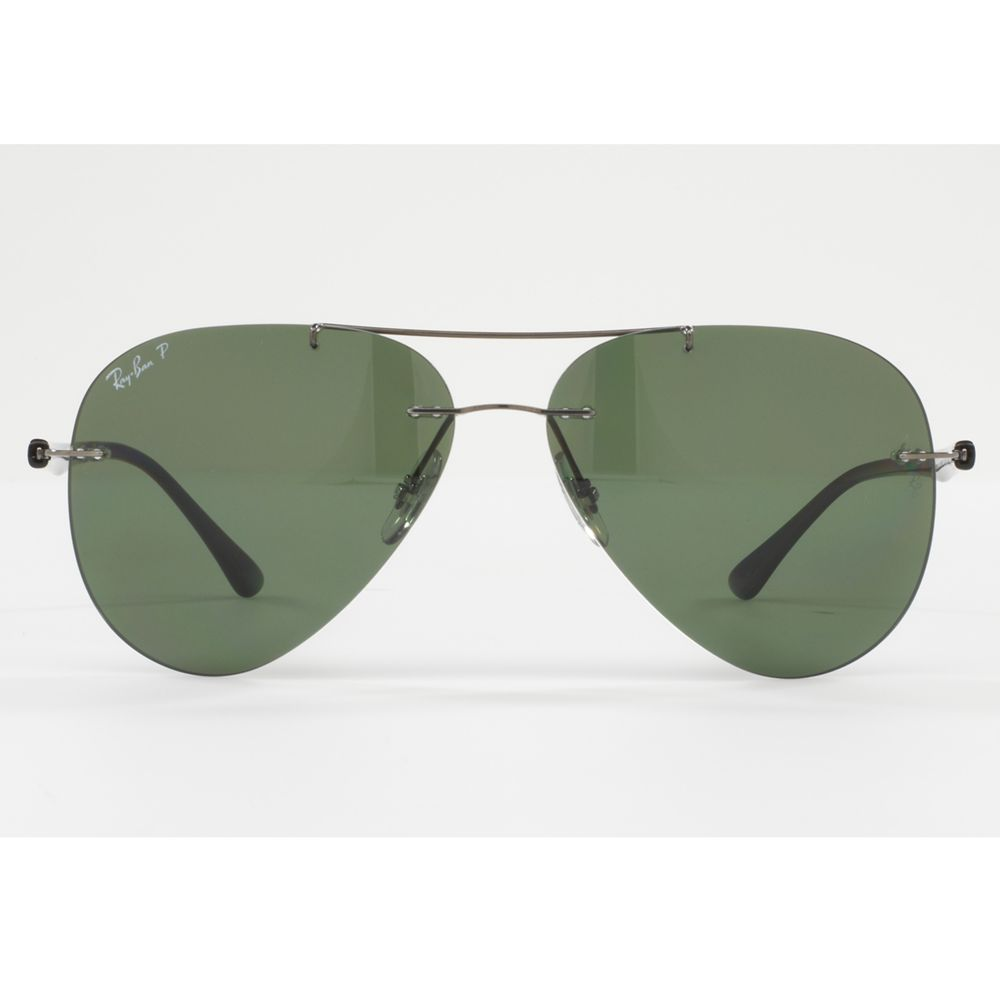 Buy Ray-Ban RB8058 Polarised Frameless Aviator Sunglasses ...