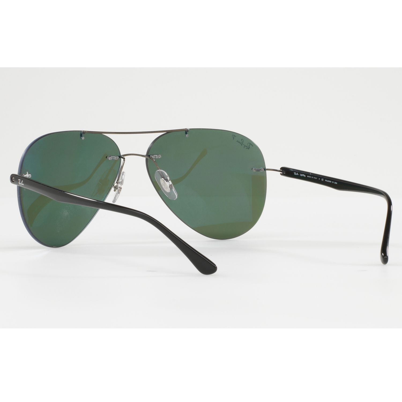 Buy Ray-Ban RB8058 Polarised Frameless Aviator Sunglasses ...