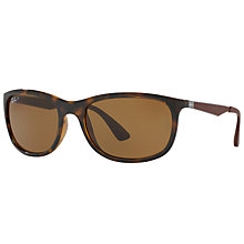Buy Ray-Ban RB4267 Polarised Square Sunglasses Online at johnlewis.com