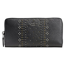 Buy Coach Large Zip Around Studded Purse, Black Online at johnlewis.com
