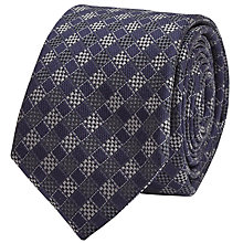 Buy Reiss Nobile Check Silk Blend Tie, Navy Online at johnlewis.com