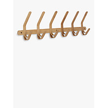 Buy John Lewis Bamboo 6 Hook Rack Online at johnlewis.com