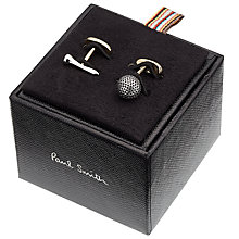 Buy Paul Smith Golf Ball and Tee Cufflinks, Silver Online at johnlewis.com
